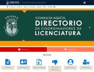 escolares.unicach.mx screenshot