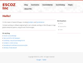escoz.com screenshot