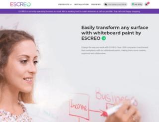 escreo.com screenshot