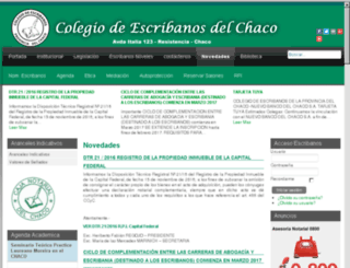 escribanoschaco.org.ar screenshot