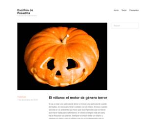 escritosdepesadilla.com screenshot