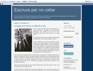 escriurepernocallarres.blogspot.com screenshot