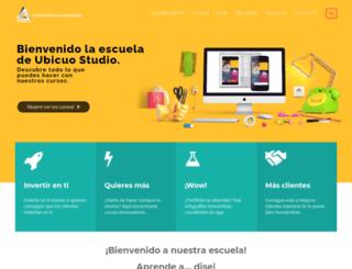escuela.ubicuostudio.com screenshot