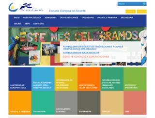 escuelaeuropea.org screenshot