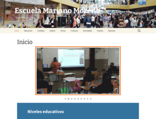 escuelammpacheco.edu.ar screenshot