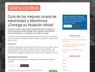 escuelaselectricas.com screenshot