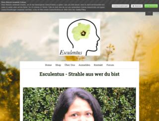 esculentus.jimdo.com screenshot