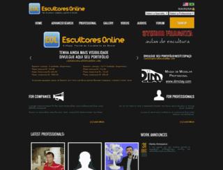 escultoresonline.com screenshot