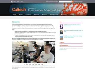 ese.caltech.edu screenshot