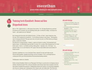 esecethun.wordpress.com screenshot