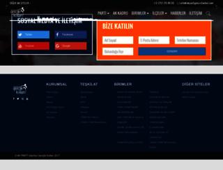esenyurt.akpartigencistanbul.com screenshot