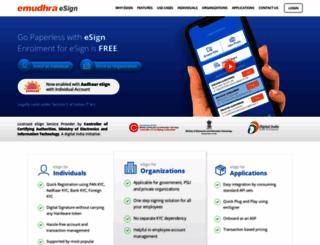 eservices.emudhra.com screenshot