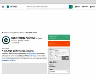 eset-nod32-antivirus.en.softonic.com screenshot