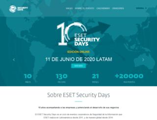 esetsecurityday.com screenshot