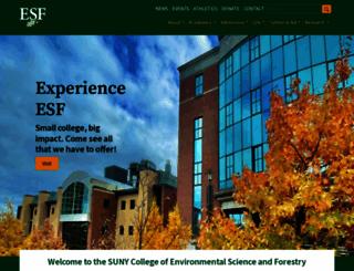 esf.edu screenshot