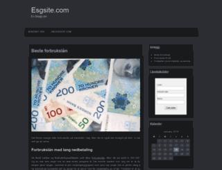 esgsite.com screenshot