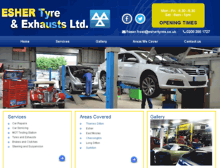 eshertyres.co.uk screenshot