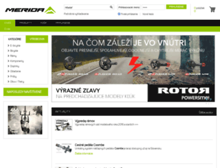 eshop.merida.sk screenshot