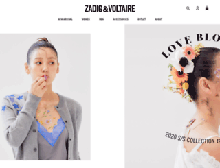 eshop.zadig-et-voltaire.co.kr screenshot