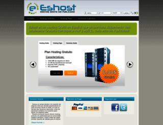 eshost.com.ar screenshot