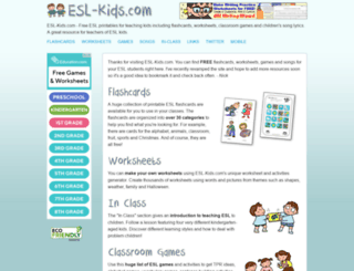 esl-kids.com screenshot