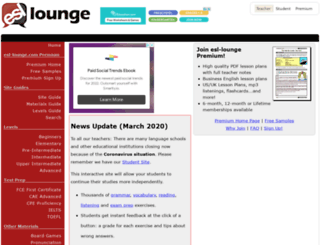 esl-lounge.com screenshot