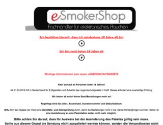 esmokershop.de screenshot