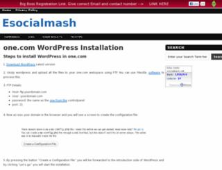 esocialmash.com screenshot
