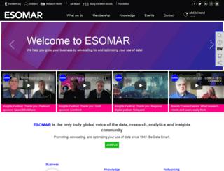 esomar.com screenshot