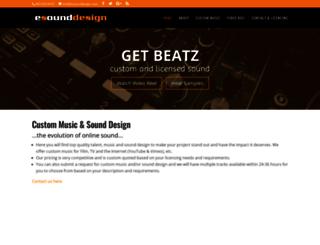 esounddesign.com screenshot