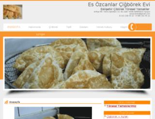 esozcanlarcigborek.com screenshot