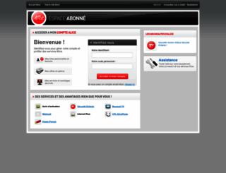 espace-abonne.aliceadsl.fr screenshot