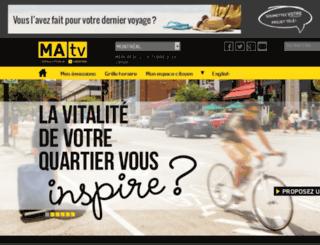 espace.matv.ca screenshot