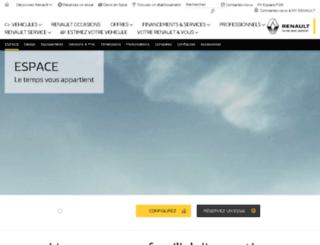 espace.renault.fr screenshot