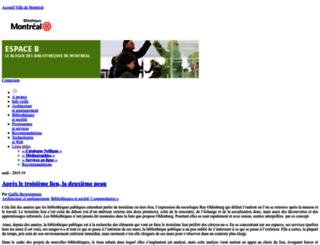 espaceb.bibliomontreal.com screenshot