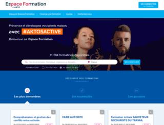espaceformation.opcalia.com screenshot