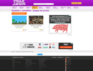 espadas-y-sandalias.chulojuegos.com screenshot