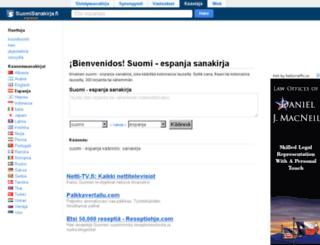 espanja.suomisanakirja.fi screenshot