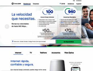 espanol.centurylink.com screenshot