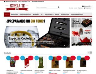 especia-te.com screenshot