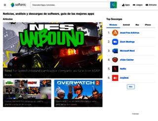 especiales.softonic.com screenshot
