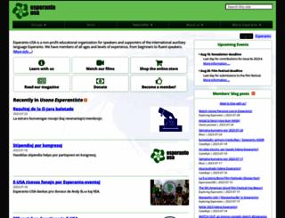 esperanto-usa.org screenshot