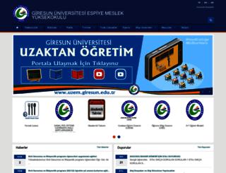 espiyemyo.giresun.edu.tr screenshot