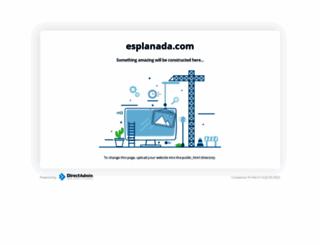 esplanada.com screenshot