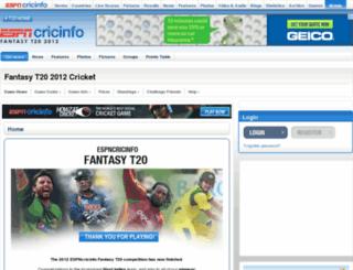 espncricinfo.fantasyleague.com screenshot