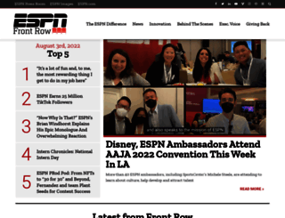 espnfrontrow.com screenshot