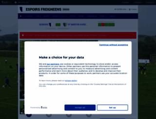 espoirsfreigneens.footeo.com screenshot