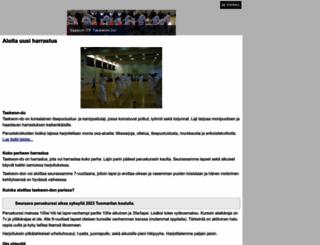 espoontaekwondo.fi screenshot