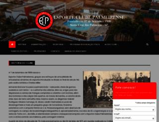 esporteclubepalmeirense.com screenshot