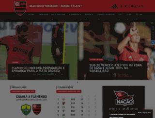 esportes.flamengoloja.com.br screenshot